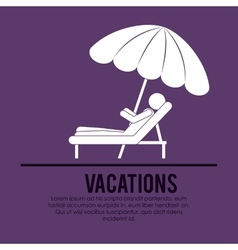Beach vacations design vector