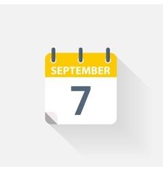 7 september calendar icon vector