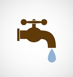Logo tap with a drop of water vector