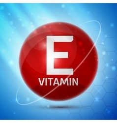 Vitamin e icon vector