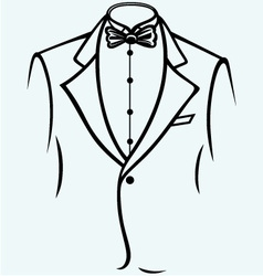 Stylish man in elegant suit vector
