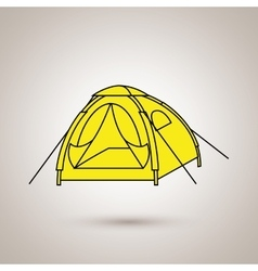 camping equipment design vector image