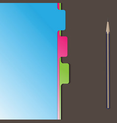 Document separator divider vector