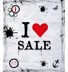 I love sale vector image