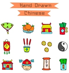 art of Chinese object vector image vector image