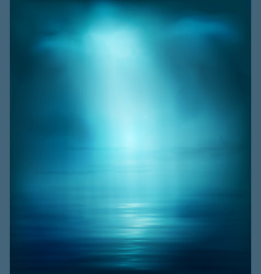 background blue sea with light vector image vector image