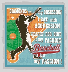 baseball words fans vector image