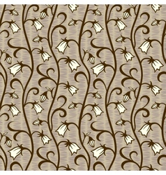 bells flowers seamless background vector image