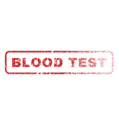 blood test rubber stamp vector image