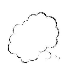 bubble comic speech chat cloud sketch vector image vector image