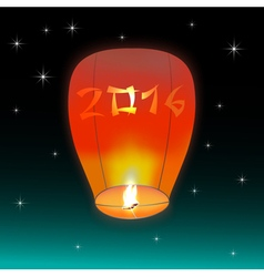 Chinese lantern 2016 vector image vector image
