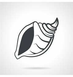 Cockleshell black icon vector