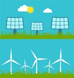 concept with icon of green energy vector image vector image