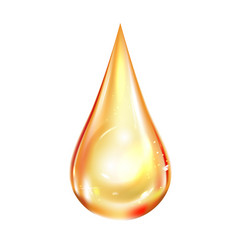 drop oil not transparent isolated vector image