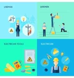 Electricity Set 2x2 Design vector image