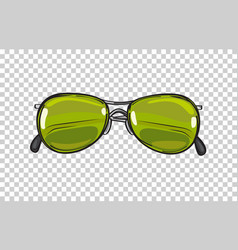 fashionable green sunglasses isolated vector image