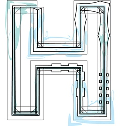 Font letter H vector image vector image
