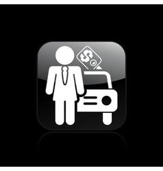 girl car seller icon vector image