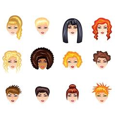 girl hair style vector image