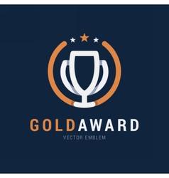 Gold Award emblem vector image vector image