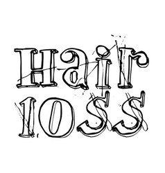 Hair loss typographic stamp vector