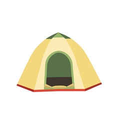 Hiking and camping tent icons triangle and vector