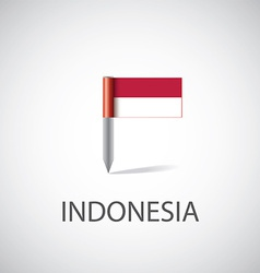 Indonesia flag pin vector