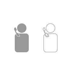 Man with telephone icon grey set vector