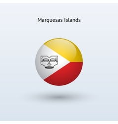 Marquesas Islands round flag vector image