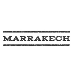 Marrakech watermark stamp vector