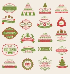 Merry Christmas and Happy Holidays Wishes vector image