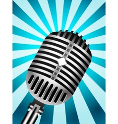 microphone back retro vector image