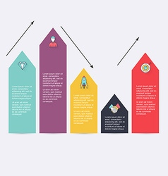 Modern arrow info graphics element Infographics vector image