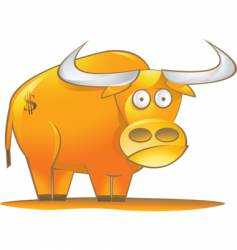 money bull vector image vector image