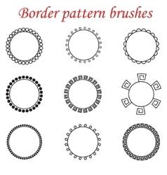 pattern brushes for borders dividers and vector image
