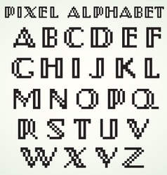 Pixel Alphabet vector image