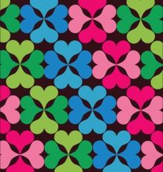 retro floral elements pattern vector image vector image