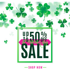 saint patrick day sale vector image