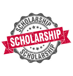 Scholarship stamp sign seal vector
