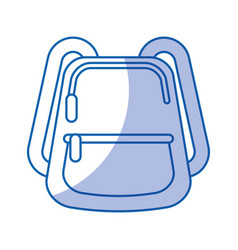 school bag isolated icon vector image