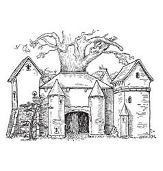 Sigmund and the oak tree vintage vector