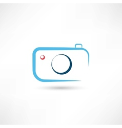 Simple blue camera icon vector image vector image