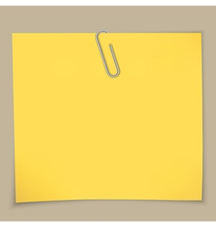 sticky notes and paper clip vector image