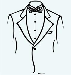 Stylish man in elegant suit vector