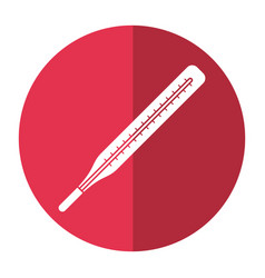 thermometer scale measuring icon shadow vector image