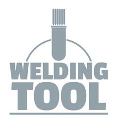 welder worker logo simple gray style vector image