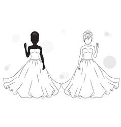 bride silhouette vector image