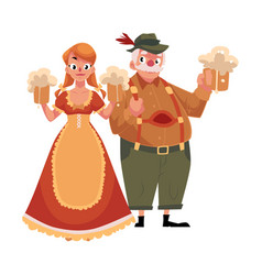 Man and woman in traditional german bavarian vector