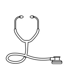 Line medical stethoscope to check cardiac vector