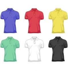 Polo shirts vector